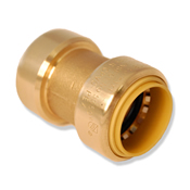 "Straight Push Coupling 1-1/2"" Dual Seal Technology"