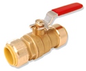 "Integrated Full Port Push Connect™ Ball Valve 1"" x 1"" Full Port Valve w/ Drain"