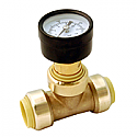"""3/4"""" Lead Free Pressure Gauge Tee - Push Connect"""