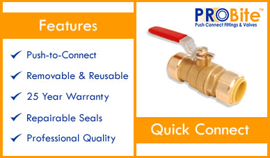 How to install ball valves on cpvc pex or copper piping for How to connect copper to pvc