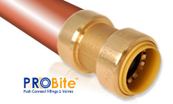 Push Connect ® fittings for copper